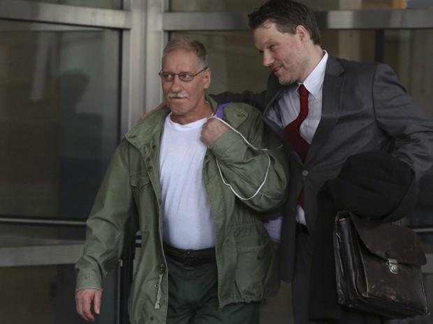David Ranta ao sair da Corte de Brooklin (Foto: AP)