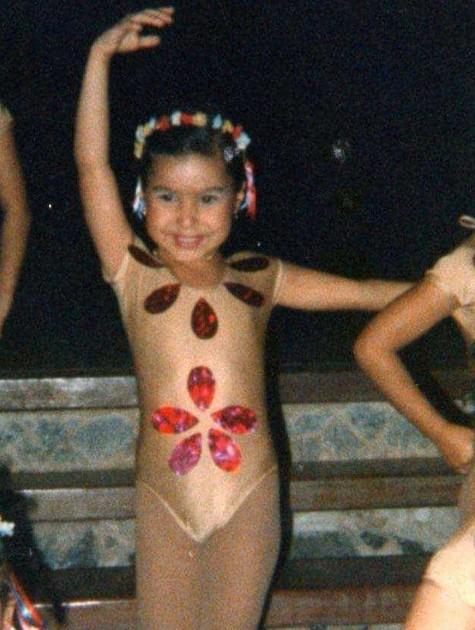 Mariana Xavier quando criança (Foto: Arquivo pessoal)