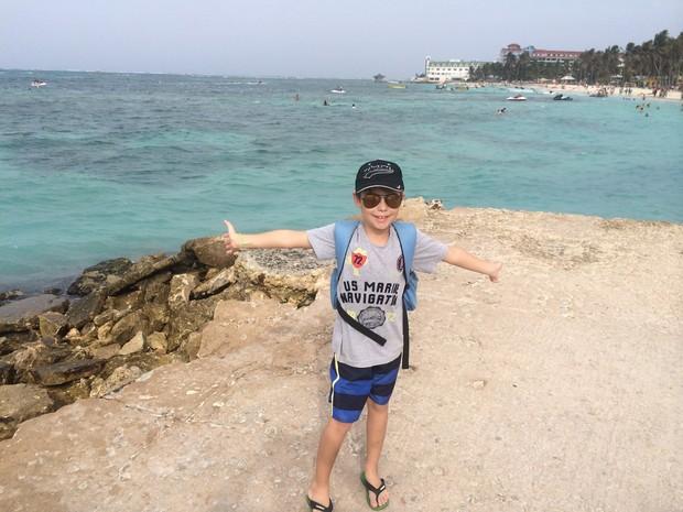 Caíque decidiu contar as viagens que faz com a família em um blog (Foto: Arquivo pessoal)