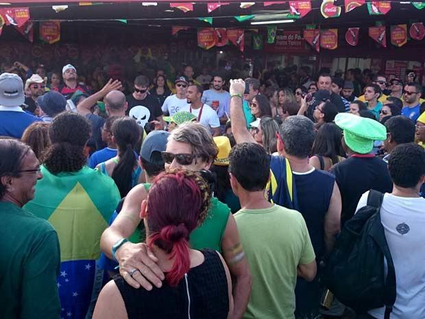 ecdc8ea0797e8 G1 - Torcida faz festa antes e depois do jogo entre França e Nigéria ...