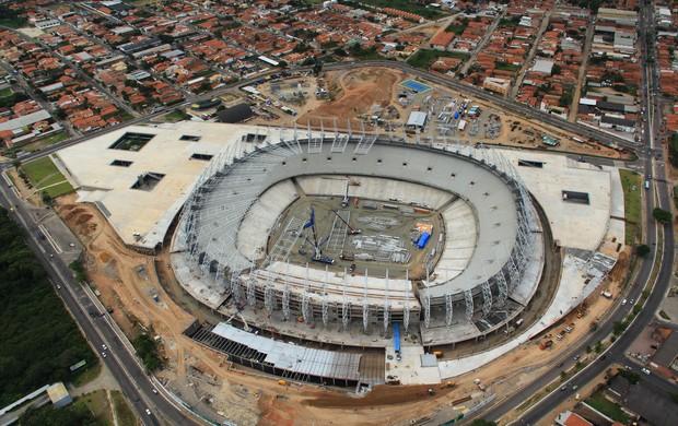 Castelão em obras (Foto: Divulgação/Secopa-CE)