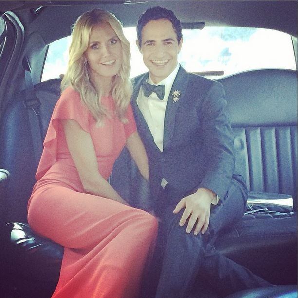Heidi Klum  caminho do Emmy Awards (Foto: Instagram/Reproduo)