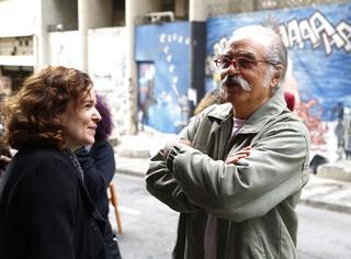 Sandra Corveloni com Genézio (Foto: Alessandra Gerzoschkowitz/Divulgação)