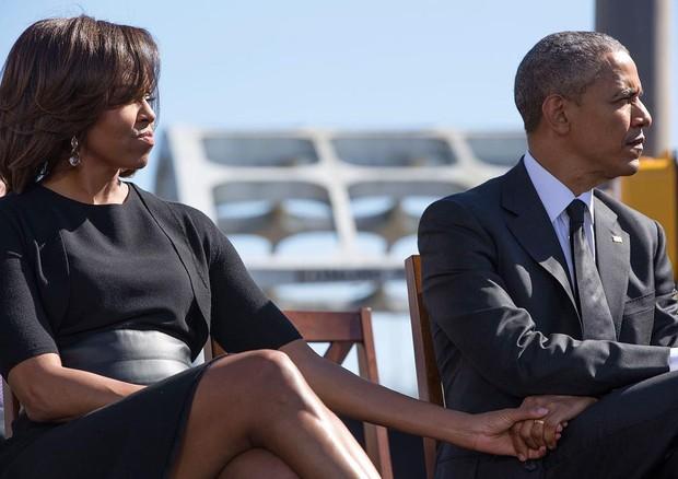Michelle e Barack Obama: demonstrações de carinho são comuns (Foto: Pete Souza/Instagram/Reprodução)