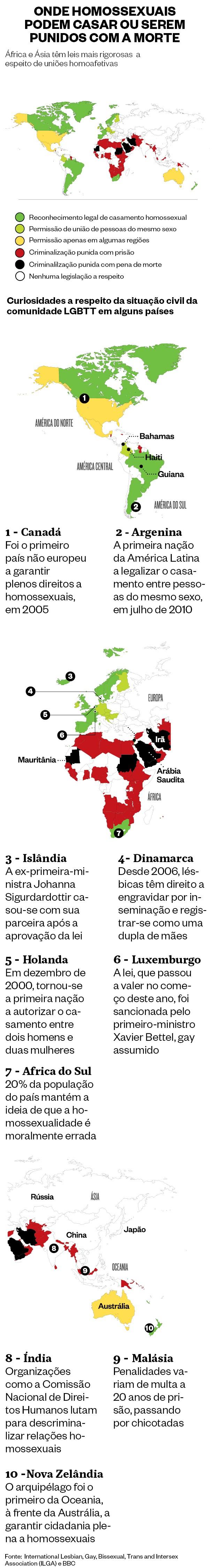 Onde os homossexuais podem casar - e onde podem ser punidos com a morte (Foto: época )