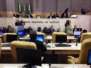 Projeto de reajuste será votado na Câmara de Vereadores de Aracaju (CMA) (Foto: Rafael Carvalho/TV Sergipe)