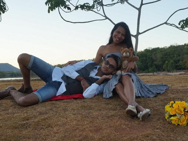 Noivos aguardam por casamento  (Foto: Arquivo Pessoal/Thatyane Miranda)