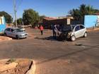Homem fica gravemente ferido após carro se chocar com outro em Palmas