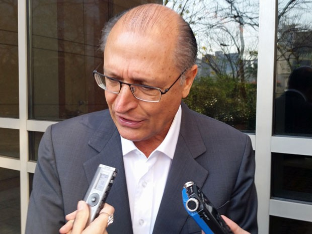 O governador Geraldo Alckmin falou sobre a crise da USP nesta terça (Foto: Tatiana Santiago/ G1)