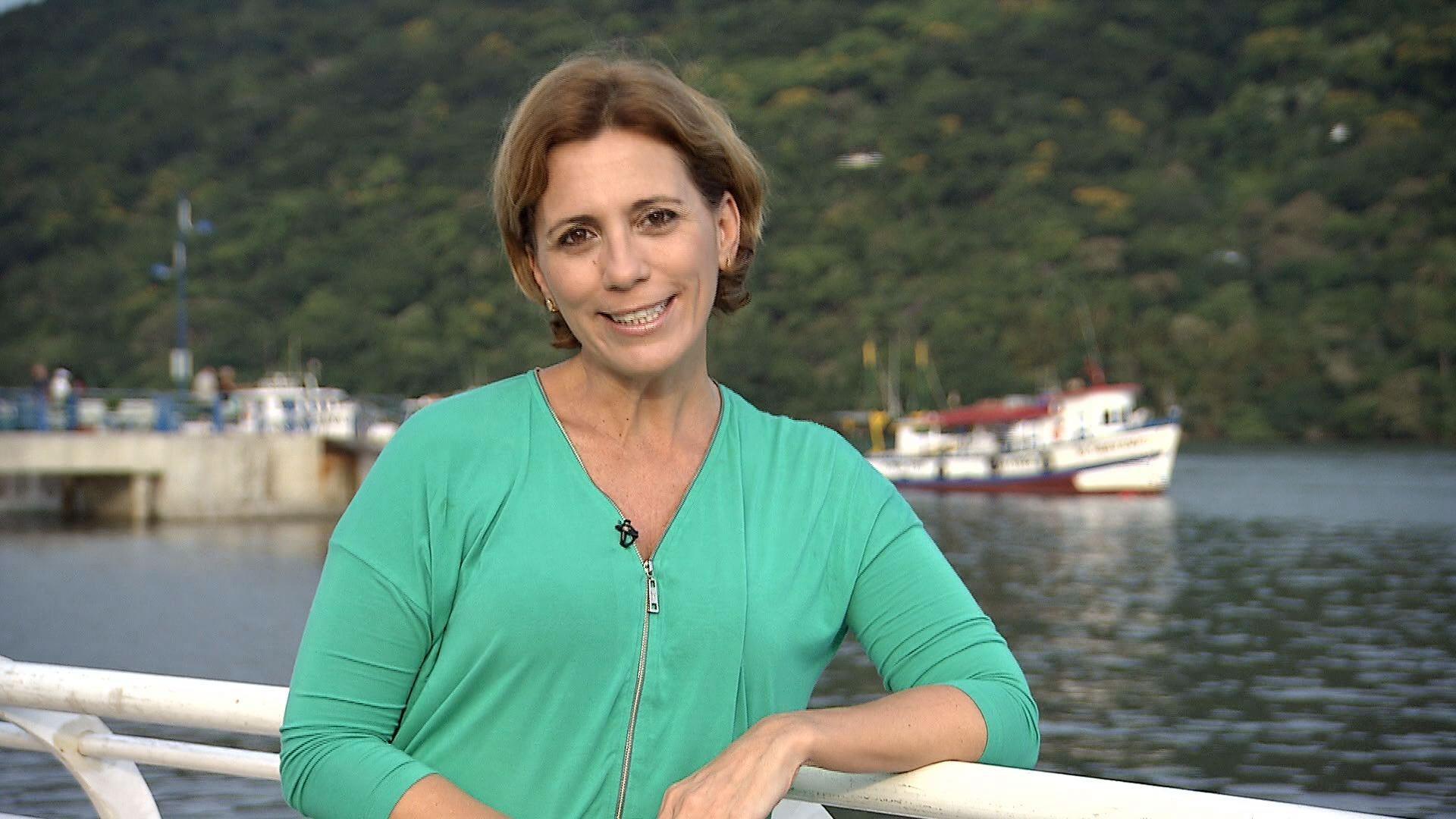 Rosana Valle em Bertioga (Foto: Reprodução/ TV Tribuna)