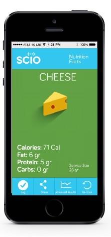 SCiO revela composição química de produtos, como queijo (Foto: BBC)