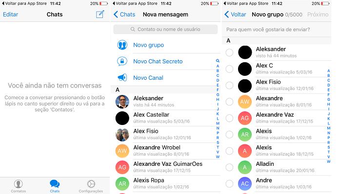 Telegram ganhou capacidade para chat com 2000 pessoas (Foto: Reprodução/Thiago Barros)