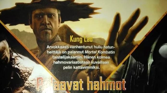 Primeira imagem de Kung Lao foi revelada por uma revista finlandesa (Foto: Test Your Might)