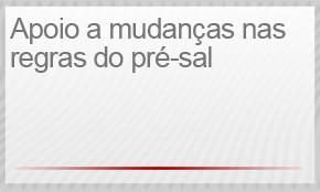 4) APOIO A MUDANÇAS NAS REGRAS DO PRÉ-SAL (Foto: G1)