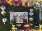 Silvio Santos vira Super-Homem em festa de Dia dos Pais em família