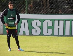 Lateral-esquerdo Henrique Miranda Figueirense treino (Foto: Renan Koerich)