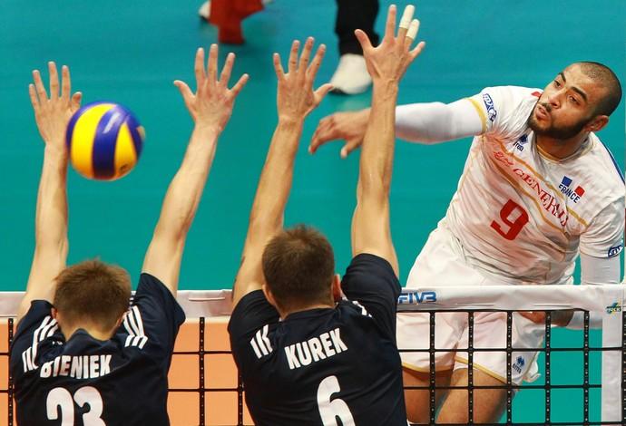 vôlei França x Polônia Liga Mundial (Foto: Divulgação / FIVB)