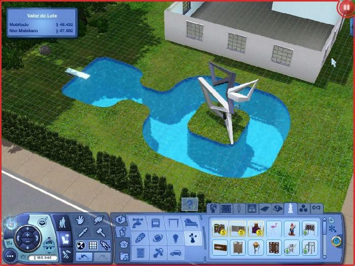 The Sims 3 No Futuro: Objetos maiores que o espaço (Foto: Reprodução/Lílian Moreira)
