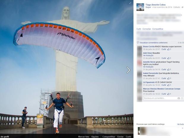 Tiago Amorim Cobra morreu após acidente na Pedra Bonita, na Gávea (Foto: Reprodução/Facebook)