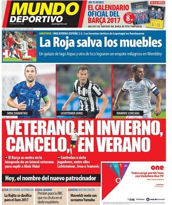 Capa Mundo Deportivo lateral experiente (Foto: Reprodução / Mundo Deportivo)
