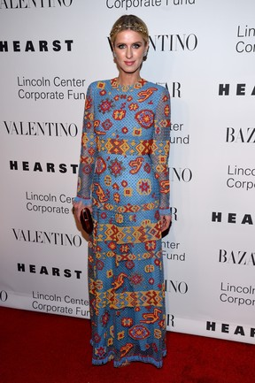 Nicky Hilton em festa em Nova York, nos Estados Unidos (Foto: Dimitrios Kambouris/ Getty Images/ AFP)