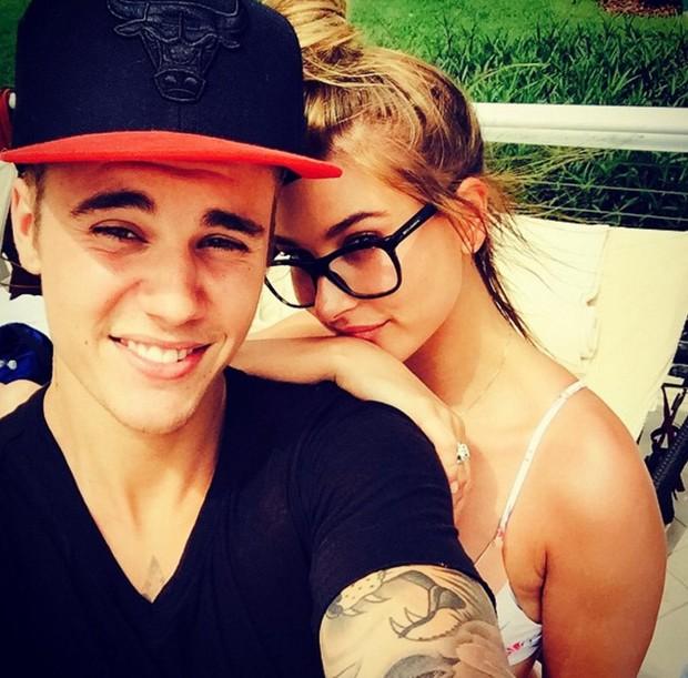 Justin Bieber e Hailey Baldwin (Foto: Reprodução/Instagram)