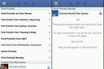 """Layout do aplicativo """"Find Friends"""" (Foto: Reprodução)"""