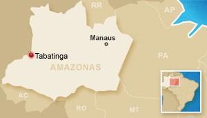 Município de Tabatinga (Foto: Editoria de Arte/G1)