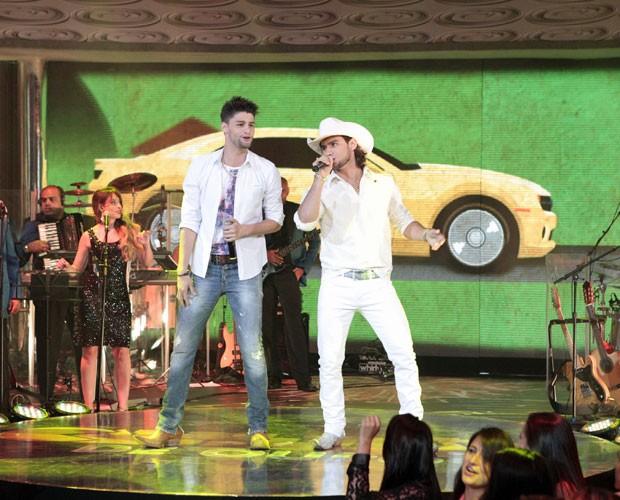 Camaro Amarelo bombou em 2012 (Foto: Caldeirão do Huck/TV Globo)