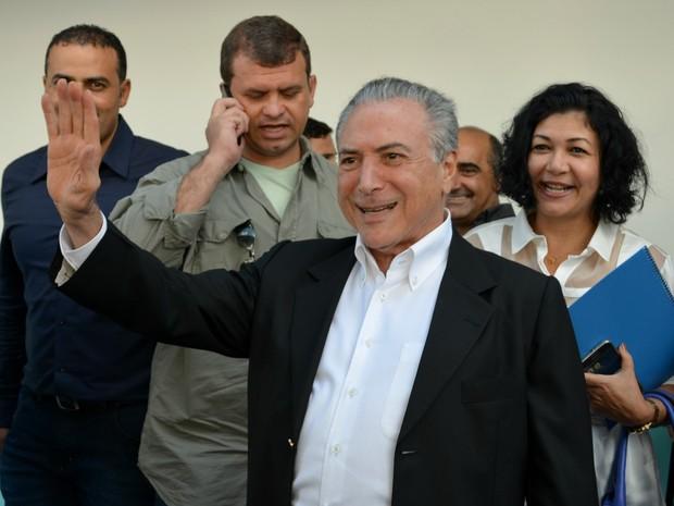 Vice-presidente do Brasil, Michel Temer, visitou o Acre, nesta sexta-feira (19)  (Foto: Iryá Rodrigues/G1)