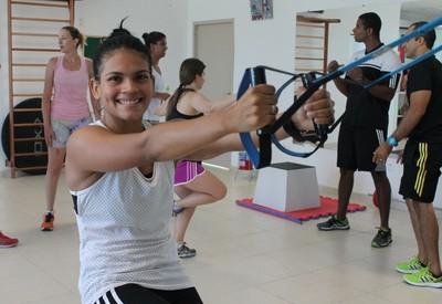 Judoca petrolinense Cynthia Silva (Foto: Emerson Rocha)