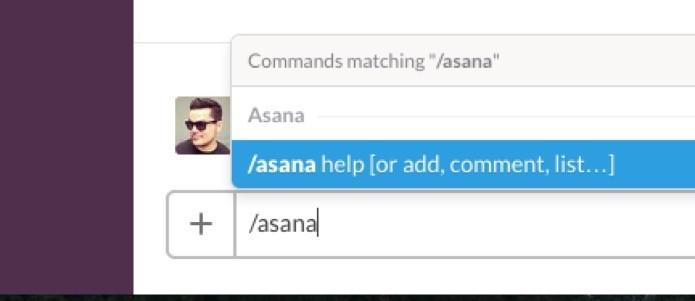 Atalho para o Asana no Slack (Foto: Reprodução/André Sugai)
