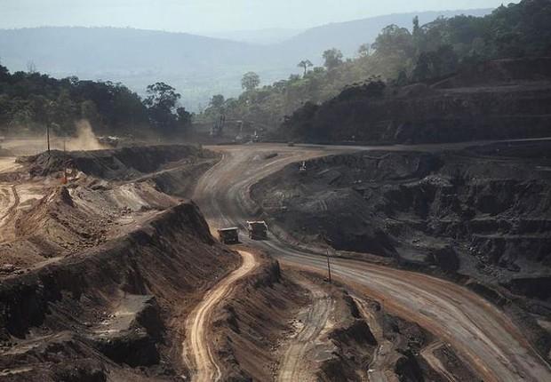 Vista da mina Ferro Carajás, operada pela Vale na Floresta de Parauapebas, no Pará (Foto: Lunae Parracho/Reuters)
