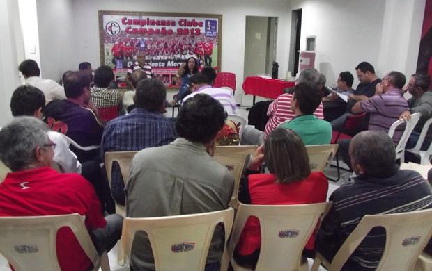 Reunião do Conselho Deliberativo do Campinense (Foto: Divulgação / Campinense)