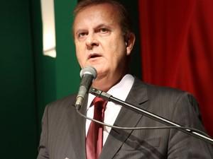 Prefeito de Goiânia, Paulo Garcia discursa ao tomar posse (Foto: Adriano Zago/G1)