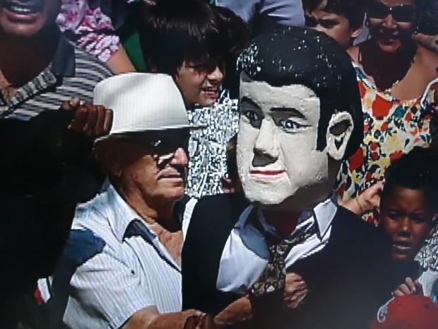 Judas Iscariotes em Jundiaí é o Marcos Feliciano (Foto: Reprodução/TV TEM)