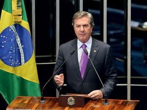 O senador Fernando Collor de Mello (PTB-AL) (Foto: André Dusek/Estadão Conteúdo)