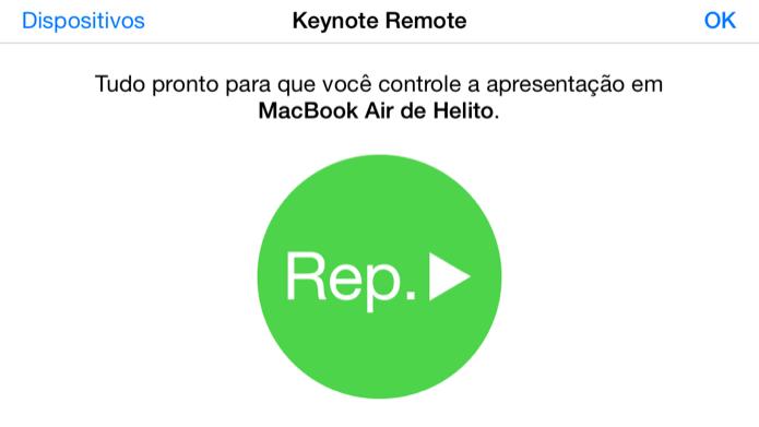 Iniciando apresentação de slides no Mac (Foto: Reprodução/Helito Bijora)