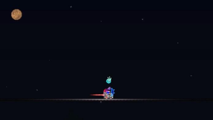 Construa uma ponte para escapar dos golpes do Moon Lord (Foto: Reprodução/Youtube)
