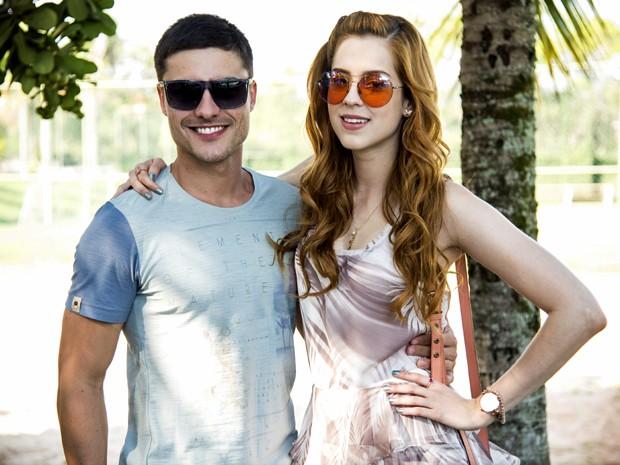 Guilherme Leicam e Sophia Abrahão serão par romântico na trama (Foto: Raphael Dias/ TV Globo)