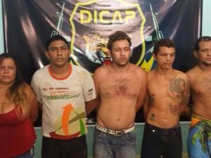 O bando foi preso em uma casa no bairro São Vicente (Foto: Divulgação)