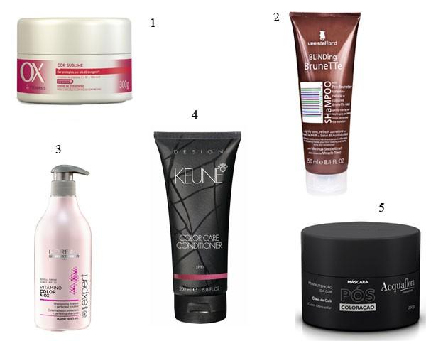 Opções para manter os cabelos coloridos (Foto: Divulgação)