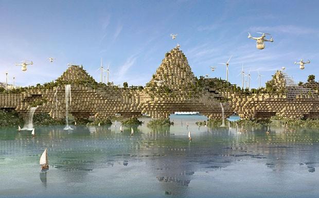 Cidade iraquiana destruída pela guerra será reconstruída com módulos em 3D feitos de escombros (Foto: Divulgação)