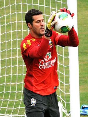 Julio César treino Seleção em São Januário (Foto: Alexandre Durão / Globoesporte.com)