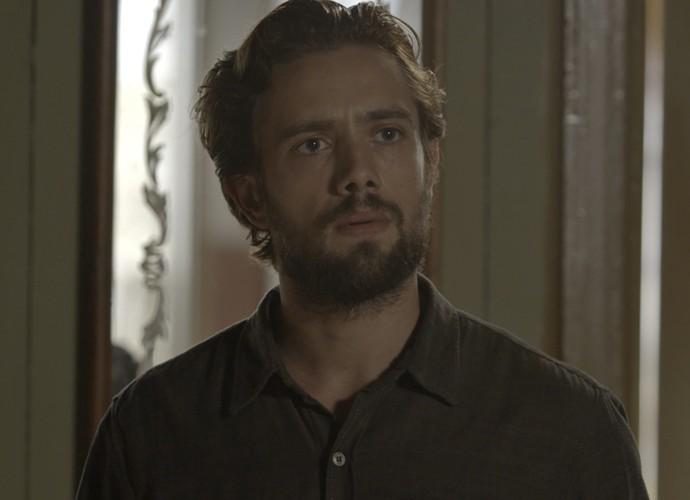 Felipe fica preocupado com o sumiço de Alex (Foto: TV Globo)