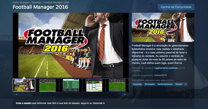 Baixe o Football Manager no seu computador (Foto: Reprodução/Lucas Mendes)