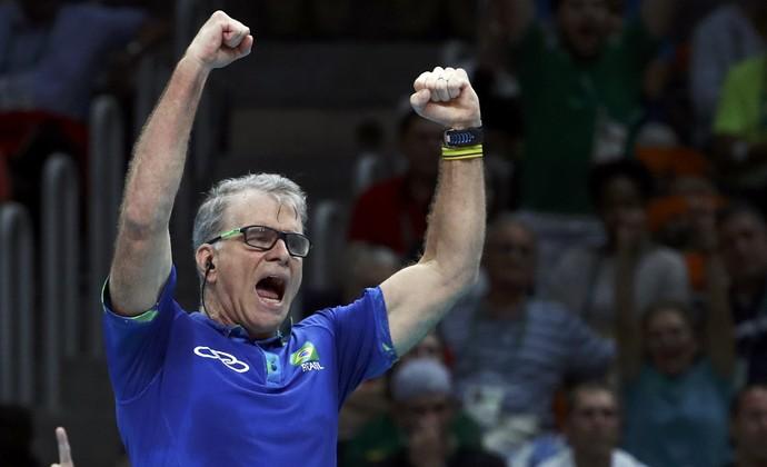 Final - Brasil x Itália - Rio 2016 - Bernardinho  (Foto: Reuters)