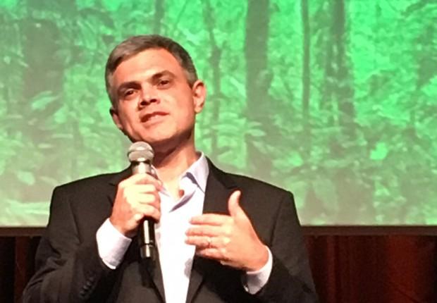 O presidente da Natura , João Paulo Ferreira, durante lançamento da plataforma Compromisso com o Clima (Foto: Editora Globo)