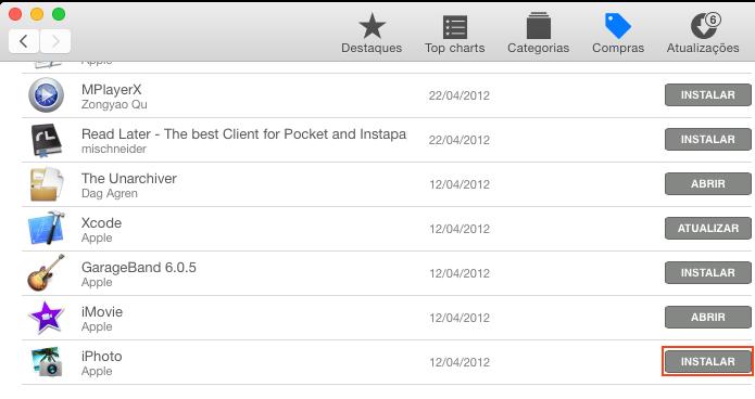 Instalando ou Atualizando o iPhoto na App Store (Foto: Reprodução/Edivaldo Brito)
