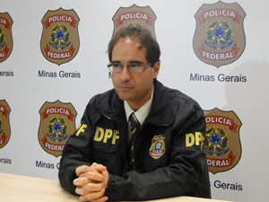 Delegado durante entrevista nesta terça-feira (15) (Foto: Pedro Triginelli/G1)
